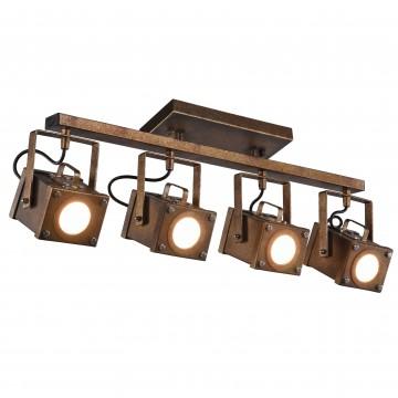 Потолочно-подвесной светильник с регулировкой направления света Favourite Foco 2037-4U, 4xGU10x5W, коричневый, металл, пластик - миниатюра 2