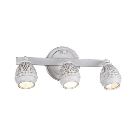 Потолочный светильник с регулировкой направления света Favourite Sorento 1585-3W, 3xGU10x5W, белый с золотой патиной, металл