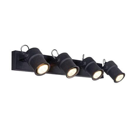 Потолочный светильник с регулировкой направления света Favourite Arcu 2026-4W, 4xGU10x5W, черный, металл