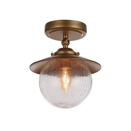 Потолочный светильник с регулировкой направления света Favourite Farola 2027-1U, 1xE14x40W, бронза, металл, металл со стеклом