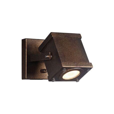 Потолочный светильник с регулировкой направления света Favourite Foco 2037-1W, 1xGU10x5W, коричневый, металл, пластик