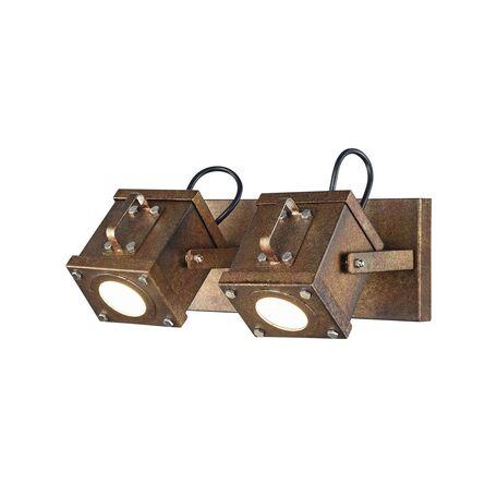 Потолочный светильник с регулировкой направления света Favourite Foco 2037-2W, 2xGU10x5W, коричневый, металл, пластик
