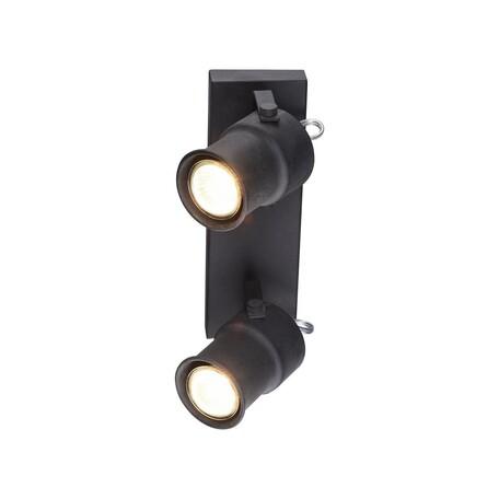 Потолочный светильник с регулировкой направления света Favourite Arcu 2026-2W, 2xGU10x5W, черный, металл