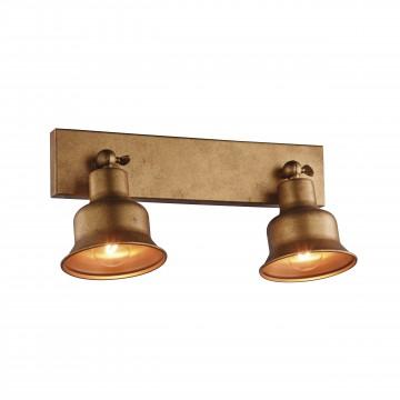 Потолочный светильник с регулировкой направления света Favourite Clochette 2024-2W, 2xE27x60W, матовое золото, металл