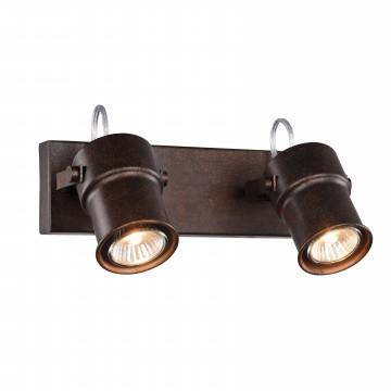 Потолочный светильник с регулировкой направления света Favourite Arcu 2025-2W, 2xGU10x5W, коричневый, металл