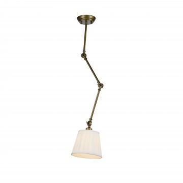 Потолочный светильник с регулировкой направления света на складной штанге Favourite Gambas 2030-1P, 1xE27x60W, коричневый, белый, металл, текстиль