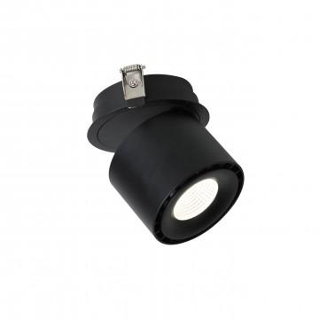 Встраиваемый светодиодный светильник с регулировкой направления света Favourite LEDel 1989-1U, 4000K (дневной), черный, металл