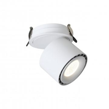 Встраиваемый светодиодный светильник с регулировкой направления света Favourite LEDel 1990-1U, 4000K (дневной), белый, металл