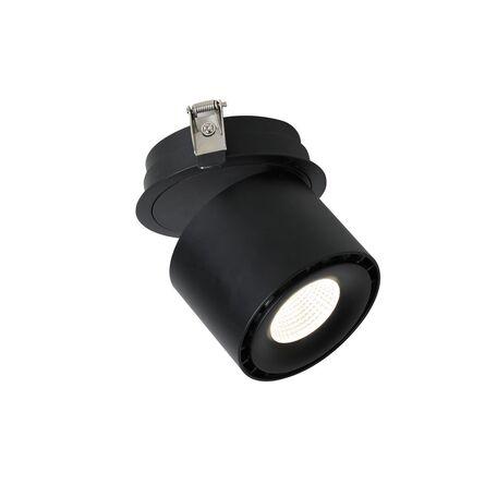 Встраиваемый светодиодный светильник с регулировкой направления света Favourite Ledel 1989-1U, LED 20W 4000K CRI>80, черный, металл
