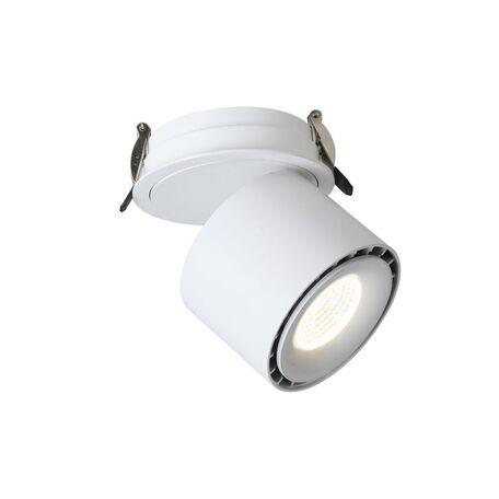 Встраиваемый светодиодный светильник с регулировкой направления света Favourite Ledel 1990-1U, LED 20W 4000K CRI>80, белый, металл
