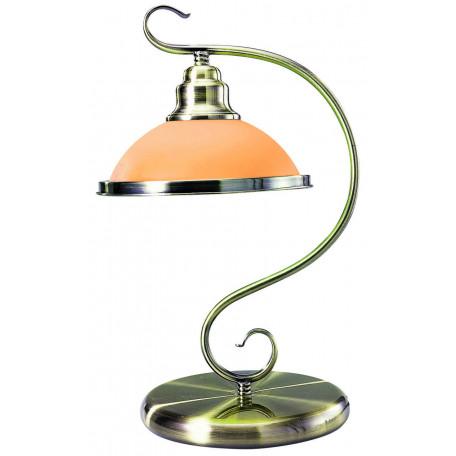 Настольная лампа Globo Sassari 6905-1T, 1xE27x60W, металл, стекло