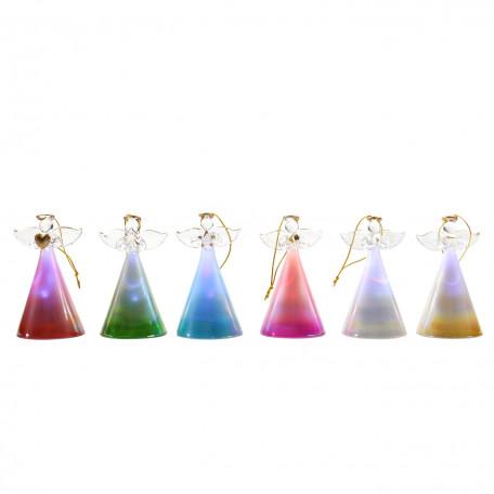 Настольная светодиодная лампа-ночник Globo New Y 23210-12, LED 0,04W, разноцветный, металл, стекло