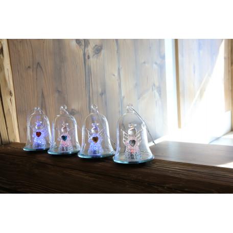 Настольная светодиодная лампа-ночник Globo New Y 23225-12, LED 0,06W, серый, прозрачный, пластик