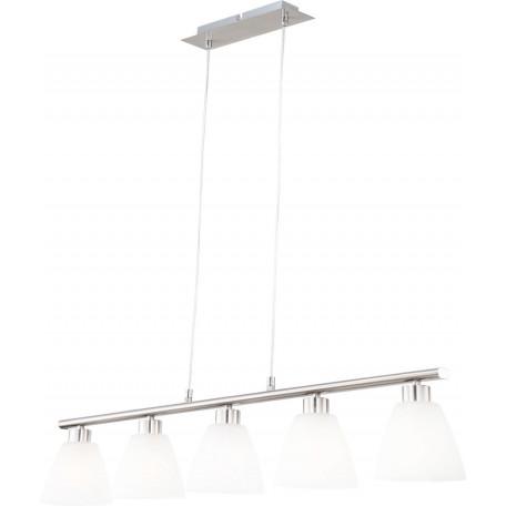 Подвесной светильник Globo Illimani 68615-5, 5xE14x40W, металл, стекло
