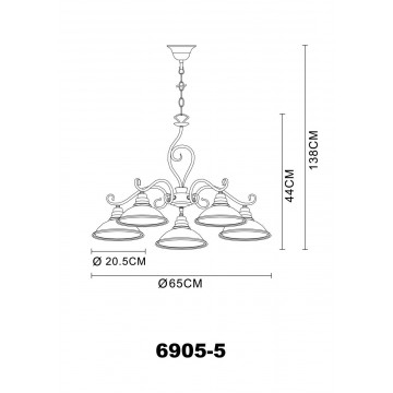 Схема с размерами Globo 6905