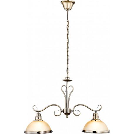 Подвесной светильник Globo Sassari 6905-2, 2xE27x60W, металл, стекло