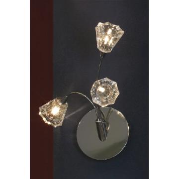 Бра Lussole Caserta LSC-3001-03, хром, прозрачный, металл, стекло