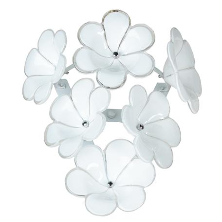 Настенный светильник Lussole Loft Asinara LSA-5101-01, IP21, 1xG9x40W, белый, металл, стекло