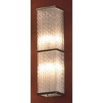 Настенный светильник Lussole Loft Lariano LSA-5401-02, IP21, 2xG9x40W, хром, прозрачный, металл, стекло