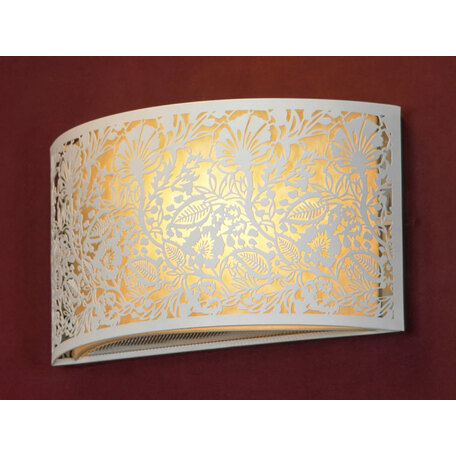 Настенный светильник Lussole Loft Vetere LSF-2301-01, IP21, 1xE14x40W, белый, металл с пластиком