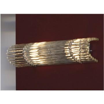 Настенный светильник Lussole Loft Popoli LSC-3401-02, IP21, 2xE14x40W, хром, прозрачный, металл, стекло