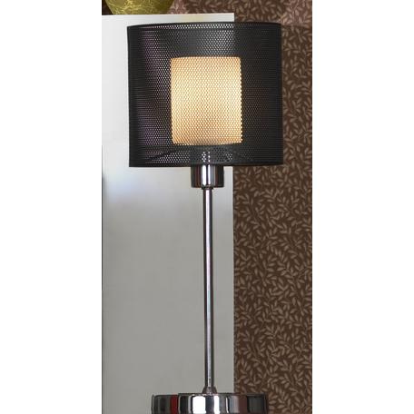 Настольная лампа Lussole Loft Rovella LSF-1904-01, хром, белый, черный, металл, стекло
