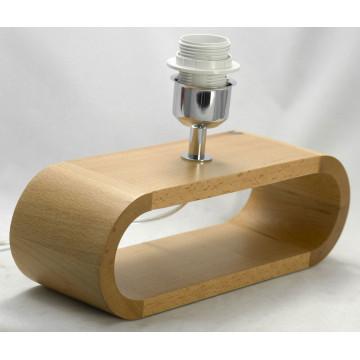 Настольная лампа Lussole Loft Nulvi LSF-2114-01, IP21, 1xE27x60W, коричневый, белый, дерево, текстиль - миниатюра 3