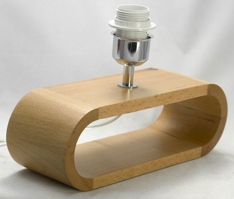 Настольная лампа Lussole Loft Nulvi LSF-2114-01, IP21, 1xE27x60W, коричневый, белый, дерево, текстиль - фото 3