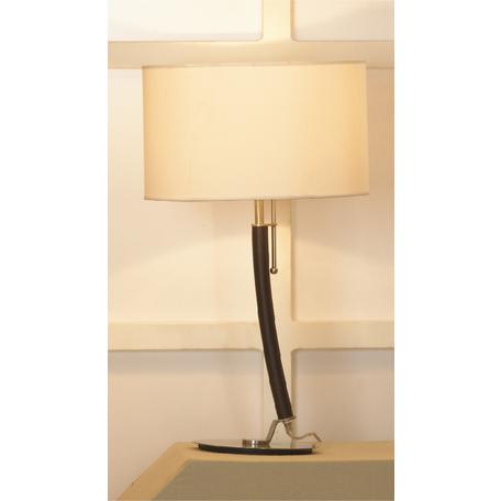 Настольная лампа Lussole Silvi LSC-7104-01, IP21, 1xE27x60W, коричневый, никель, бежевый, металл, текстиль