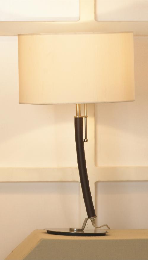 Настольная лампа Lussole Silvi LSC-7104-01, IP21, 1xE27x60W, коричневый, бежевый, металл, текстиль - фото 1