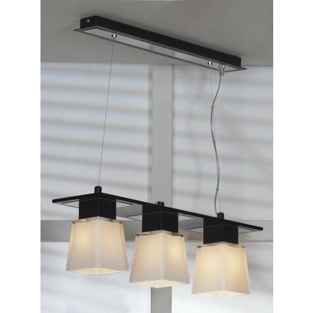 Подвесной светильник Lussole Loft Lente LSC-2503-03, IP21, 3xE14x40W, черный, белый, металл, стекло