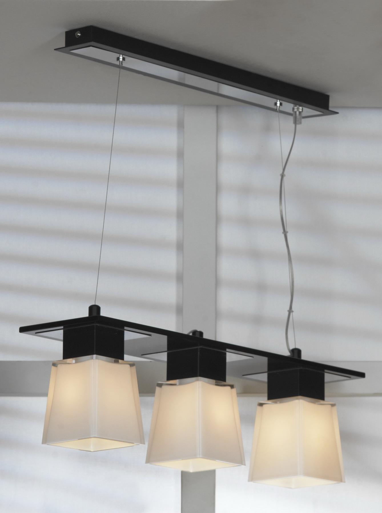 Подвесной светильник Lussole Loft Lente LSC-2503-03, IP21, 3xE14x40W, черный, белый, металл, стекло - фото 1