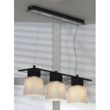 Подвесной светильник Lussole Loft Lente LSC-2503-03, IP21, 3xE14x40W, черный, белый, металл, стекло - миниатюра 2