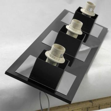 Подвесной светильник Lussole Loft Lente LSC-2503-03, IP21, 3xE14x40W, черный, белый, металл, стекло - миниатюра 3