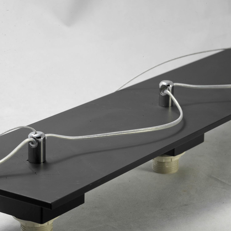Подвесной светильник Lussole Loft Lente LSC-2503-03, IP21, 3xE14x40W, черный, белый, металл, стекло - фото 5