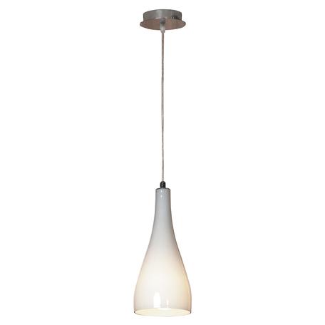 Подвесной светильник Lussole Loft Rimini LSF-1106-01, IP21, 1xE27x60W, хром, белый, металл, стекло