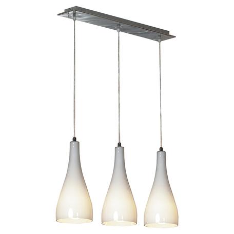 Подвесной светильник Lussole Loft Rimini LSF-1106-03, IP21, 3xE27x60W, хром, белый, металл, стекло