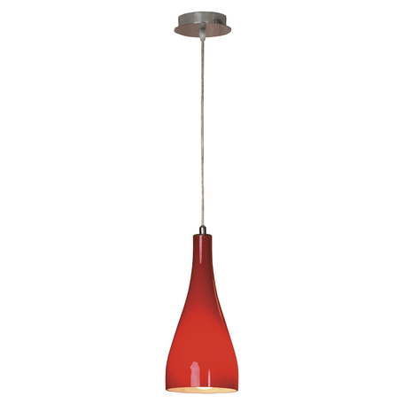 Подвесной светильник Lussole Loft Rimini LSF-1156-01, IP21, 1xE27x60W, хром, красный, металл, стекло