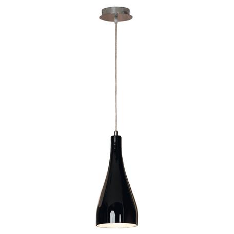 Подвесной светильник Lussole Loft Rimini LSF-1196-01, IP21, 1xE27x60W, хром, черный, металл, стекло