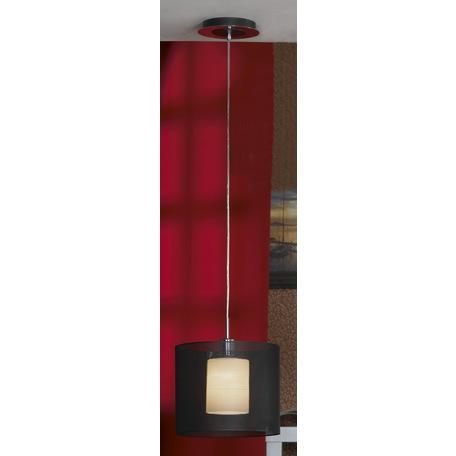 Подвесной светильник Lussole Loft Rovella LSF-1916-01, IP21, 1xE27x60W, хром, черный, металл - миниатюра 1