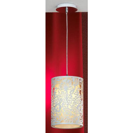 Подвесной светильник Lussole Loft Vetere LSF-2316-01, IP21, 1xE27x60W, хром, белый, металл, металл с пластиком