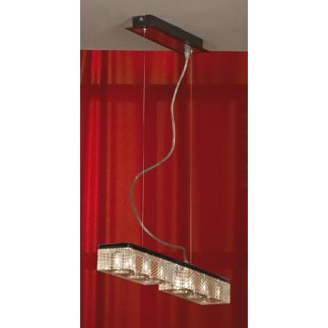 Подвесной светильник Lussole Loft Notte Di Luna LSF-1303-06, IP21, 6xG9x40W, венге, хром, прозрачный, металл, стекло