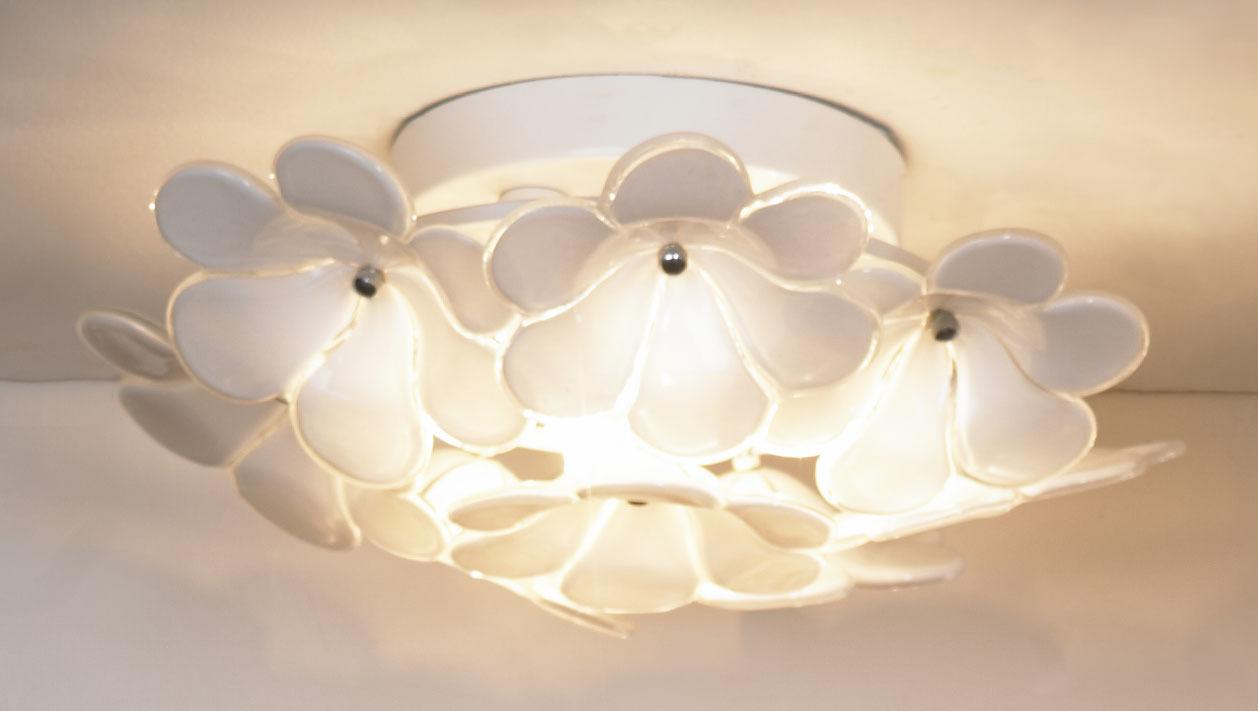 Потолочная люстра Lussole Loft Asinara LSA-5107-03, IP21, 3xG9x40W, белый, металл, стекло - фото 1