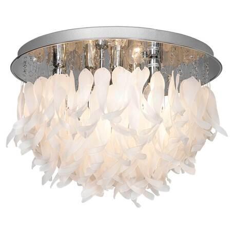 Потолочная люстра Lussole Loft Como LSA-5603-07, IP21, 7xE14x40W, хром, белый, металл, стекло
