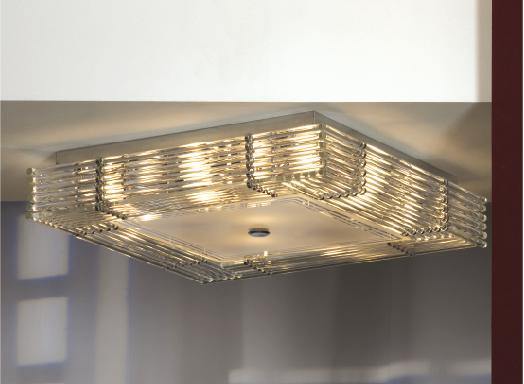 Потолочная люстра Lussole Loft Popoli LSC-3407-10, IP21, 10xE14x40W, хром, прозрачный, металл, стекло - фото 1