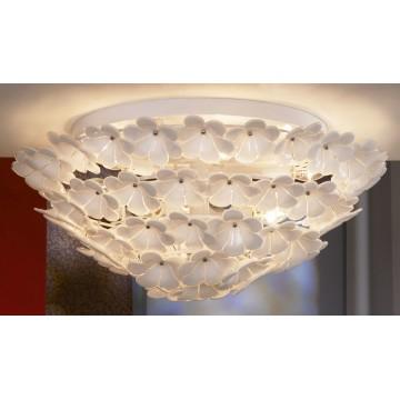 Потолочная люстра Lussole Loft Asinara LSA-5107-09, IP21, 9xE14x40W, белый, металл, стекло