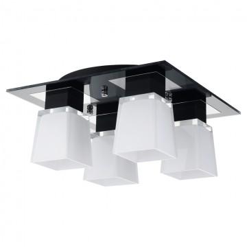 Потолочная люстра Lussole Loft Lente LSC-2507-04, IP21, 4xE14x40W, хром, черный, белый, металл, стекло