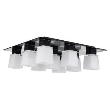 Потолочная люстра Lussole Loft Lente LSC-2507-09, IP21, 9xE14x40W, хром, черный, белый, металл, стекло