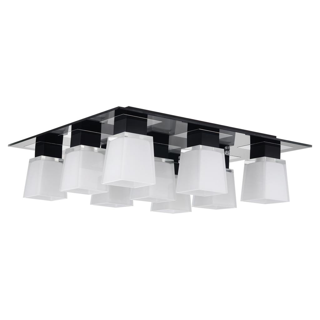 Потолочная люстра Lussole Loft Lente LSC-2507-09, IP21, 9xE14x40W, хром, черный, белый, металл, стекло - фото 1