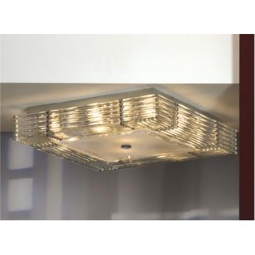 Потолочная люстра Lussole Loft Popoli LSC-3407-10, IP21, 10xE14x40W, хром, прозрачный, металл, стекло